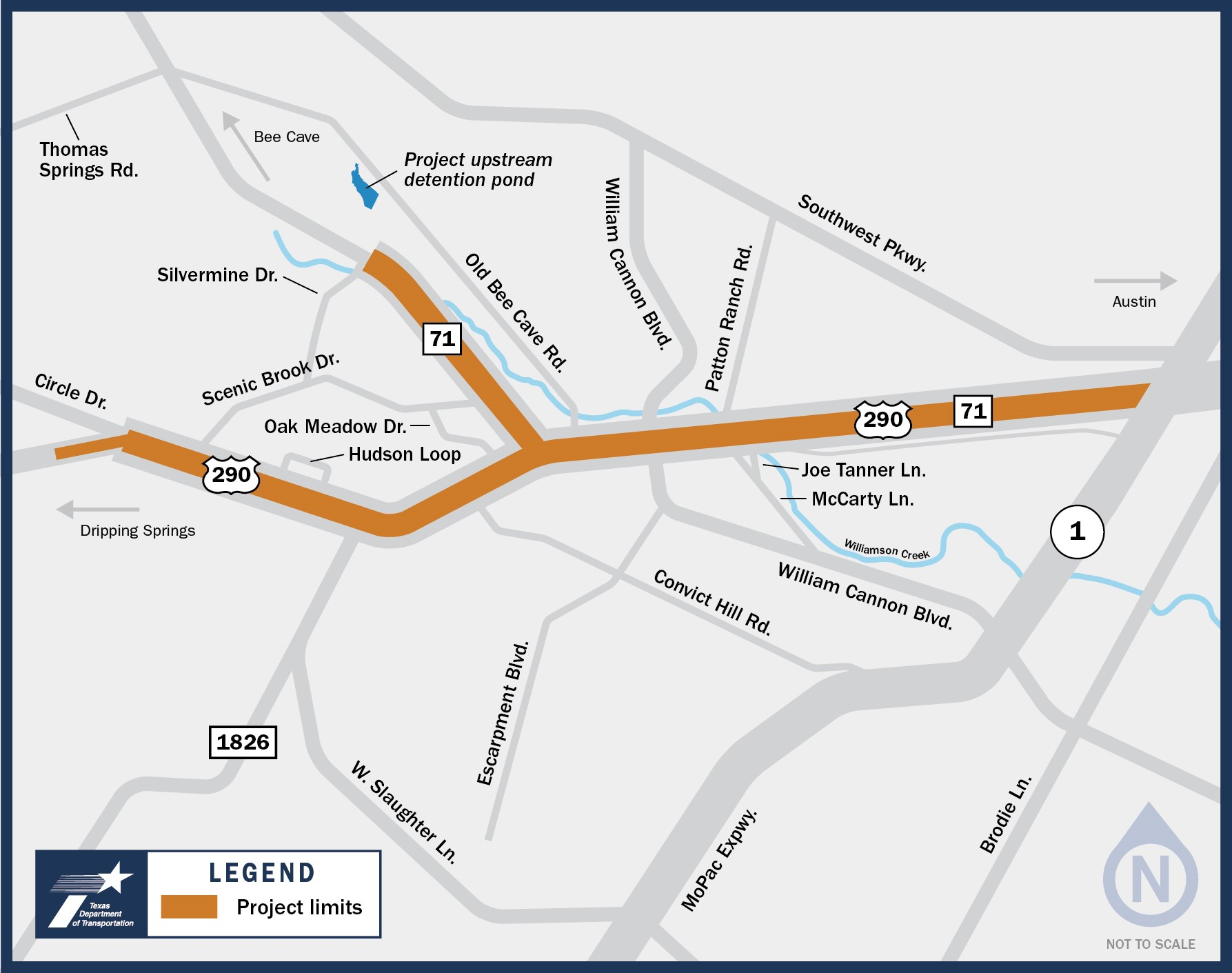 Oak Hill Parkway Project Location Map